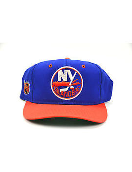 Vintage Nhl New York Islanders Sports Specialties Snapback Script Hat Cap by Sports Specialties