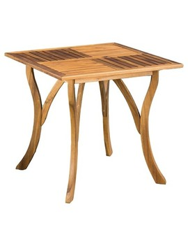 "Hermosa 31.5""&Nbsp;Square Acacia Wood Table  Teak Finish   Christopher Knight Home by Shop All Christopher Knight Home"