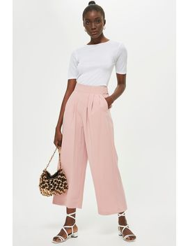 Crepe Pleat Culottes by Topshop