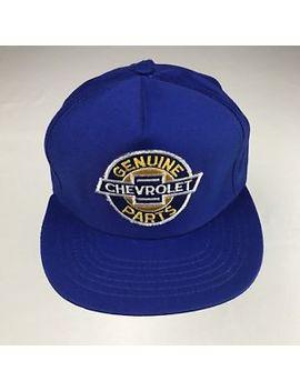 Chevrolet Unisex Snapback Vintage Blue Genuine Parts P3 by Chevrolet