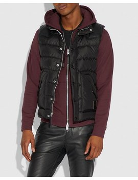 Lightweight Printed Nylon Vest by Coach