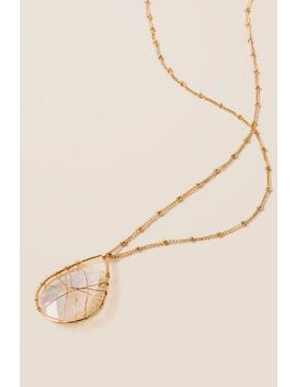 Alexa Wire Wrapped Pendant In Pearl by Francesca's