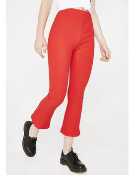 Flame Just A Friend Ribbed Culottes by Dance Marvel