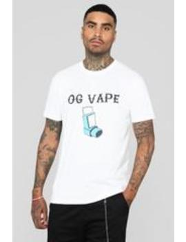 """Og Vape"" Tee   White by Fashion Nova"