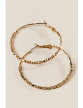 Nia Large Beaded Hoops by Francesca's