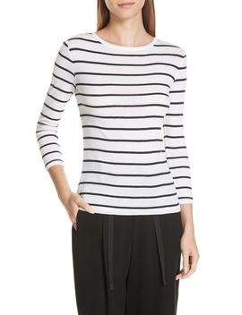 Stripe Cotton Tee by Vince