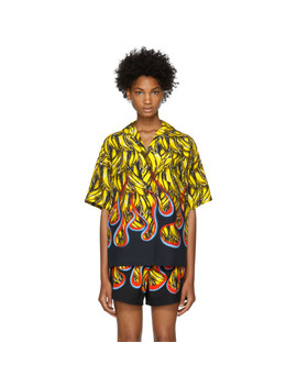 Multicolor Bananas & Flames Shirt by Prada