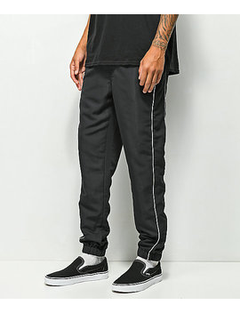 Empyre Caples Swooshy Black Track Pants by Empyre