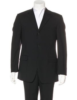 Versace Collection Three Button Wool Blazer by Versace Collection