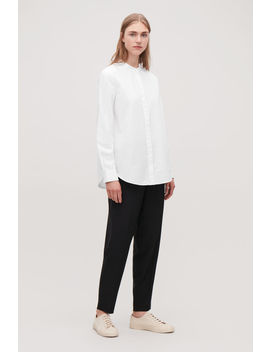 Grandad Collared Cotton Shirt by Cos