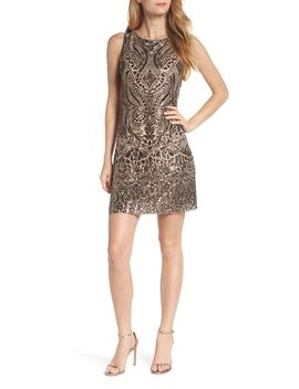 Sequin Embellished Sheath Dress by Vince Camuto