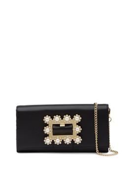 Claira Leather Buckle Matinee Wallet With Chain by Ted Baker London