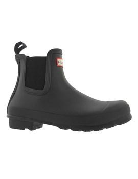Women's Original Chelsea Black Rain Boots by Hunter