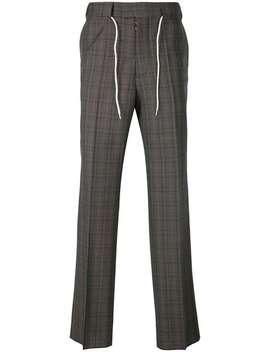 Maison Margieladrawstring Plaid Tailored Trousershome Men Maison Margiela Clothing Tailored Pants by Maison Margiela