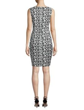 Floral Jacquard Sheath Dress by Karl Lagerfeld Paris