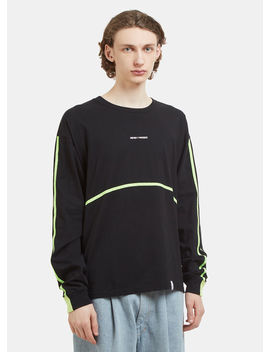 Long Sleeve Midnight Paradice T Shirt In Black by Magic Stick