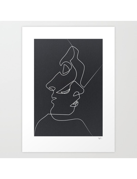 Close Noir Art Print by