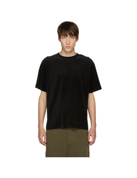 Black Elliot Velour T Shirt by Saturdays Nyc