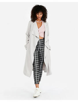 Zip Pocket Soft Trench Coat by Express
