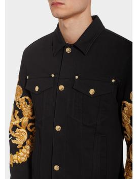 Blasone Barocco Denim Jacket by Versace