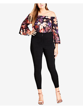 Trendy Plus Size High Rise Skinny Pants by City Chic
