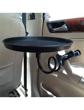 Car Auto Swivel Mount Holder Travel Drink Cup Coffee Table Stand Food Tray Black by Ebay Seller