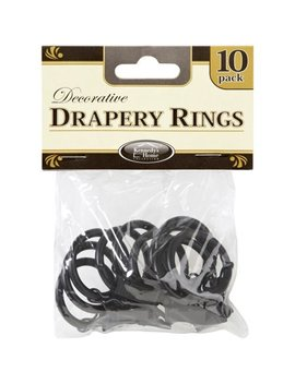 Rings For Rods, Black (10 Pack) by Home Details