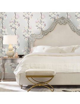 Cynthia Rowley Silver Cherry Blossoms Self Adhesive Wallpaper by Pier1 Imports