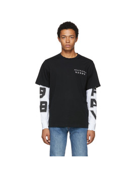 Black T Sound Layer T Shirt by Diesel