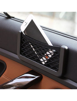 2 X Car Phone Mount Side Net Bag Mesh Storage String Pocket Holder Universal by Ebay Seller