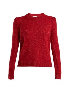Speckled Knit Crew Neck Sweater by Isa Arfen