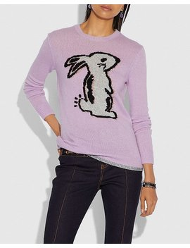 Selena Bunny Intarsia Sweater by Coach