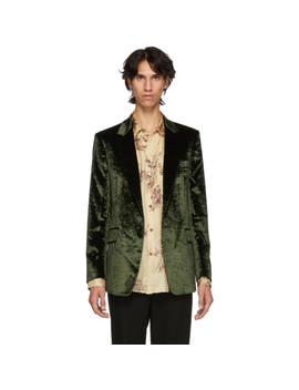 Green Crushed Velvet Runway Blazer by Paul Smith