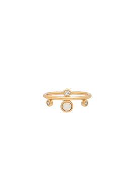 Dotted Gem Ring by Elizabeth Stone