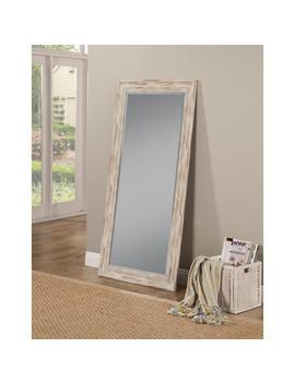 Farmhouse Antique White Wash Leaner Floor Mirror by Sandberg Furniture