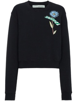 Off Whitefloral Tape Print Sweatshirt by Off White