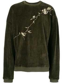Embroidered Velvet Sweatshirt by Haider Ackermann