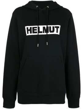 Helmut Langbox Logo Hoodie Front Zip Slim Leg Jeansbox Logo Hoodie by Helmut Lang