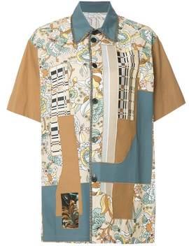 Antonio Marraspatchwork Short Sleeve Shirtdraped Midi Skirtpatchwork Short Sleeve Shirt by Antonio Marras