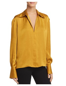 Spread Collar Blouse by Theory