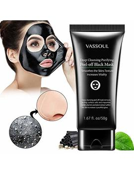 Vassoul Blackhead Remover Mask, Peel Off Blackhead Mask, Blackhead Remover   Deep Cleansing Black Mask, Bamboo Activated Charcoal Peel Off Mask (50g) by Vassoul