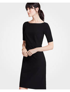 Seasonless Stretch Elbow Sleeve Sheath Dress by Ann Taylor