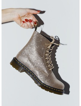 Dr. Martens 1460 Pascal Glitter Pale Gold by Dr Martens