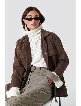 Oversized Patch Pocket Denim Jacket by Na Kd Trend