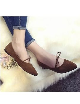 Bow Accent Pointy Flats by Satomi