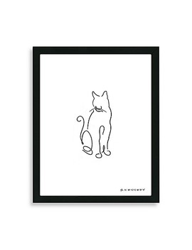 Cat Line Framed Drawing by Bed Bath And Beyond