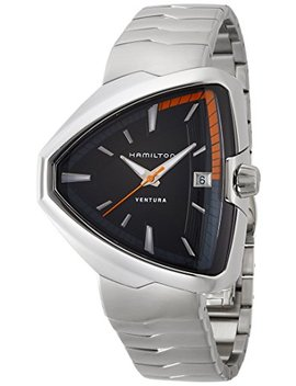 Hamilton Ventura Elvis80 Black Dial Stainless Steel Mens Watch H24551131 by Hamilton