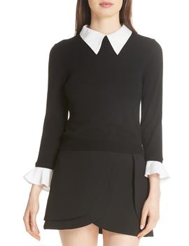 Aster Ruffle Cuff Sweater by Alice + Olivia