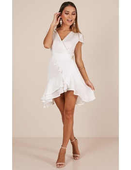 In Theory Dress In White by Showpo Fashion