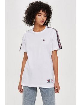 Tape Detail T Shirt By Champion by Topshop